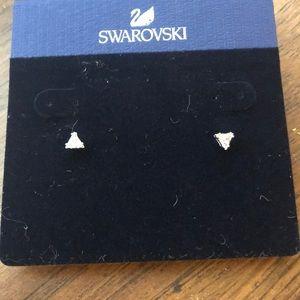 Brand New Swarovski Triangle Studs